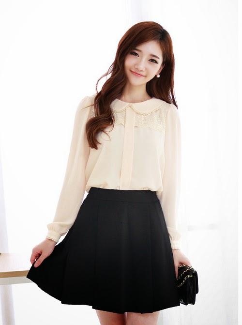 Gái Hàn với phong cách thời trang đơn giản quyến rủ