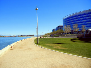 Walking along Tempe Town Lake