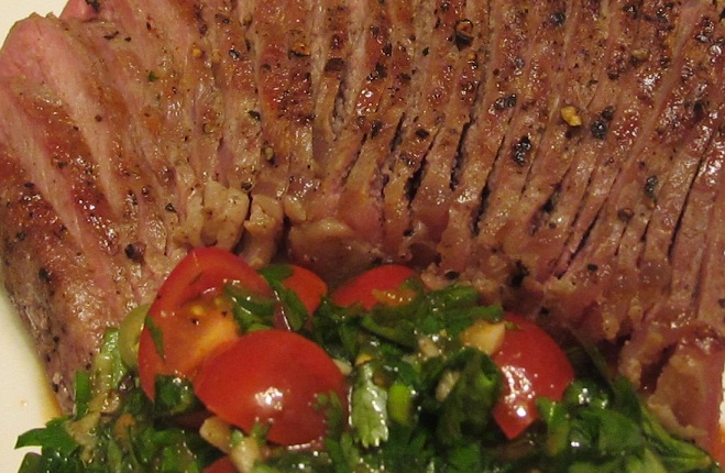 Grilled Beef in Spicy Cilantro