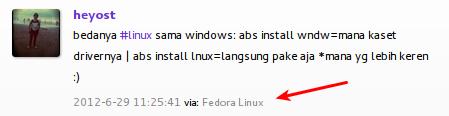 Menjadi Via Fedora Linux