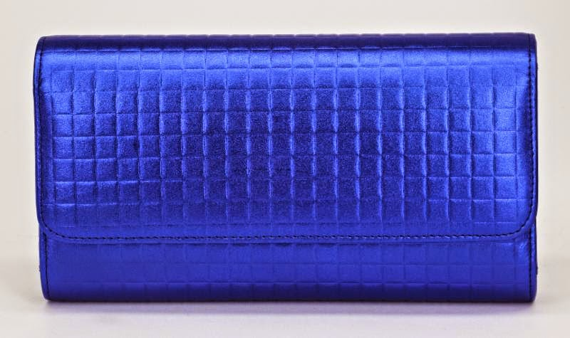 Carlo Pazolini's Electric Blue Clutch
