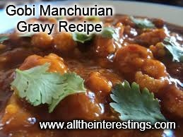 Gobi Manchurian Gravy Recipe, Indian recipes, vegetarian, gobi masala gravy, cauliflower florets