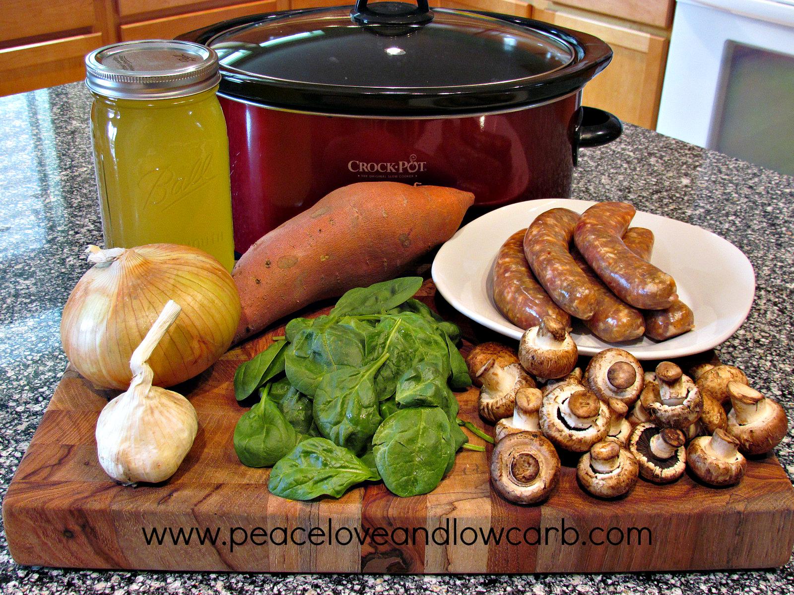 Spicy Sausage, Sweet Potato Soup – Low Carb, Gluten Free, Paleo