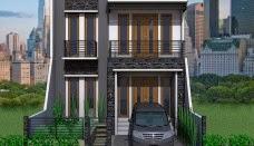 Model rumah minimalis 2 lantai modern