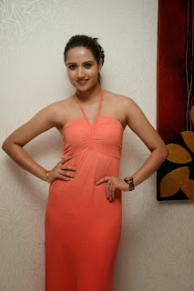 Sunitha Rana in Perfect Orange Gown Lovely pics must see