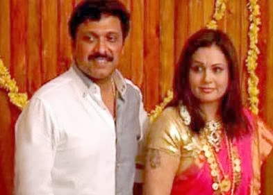 Ganesh Kumar and wife marriage photos