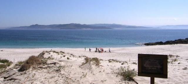 Playa nudista Figueiras (Islas Cíes, Galicia)