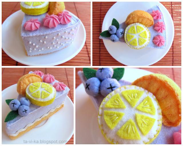 торт из фетра cake felt