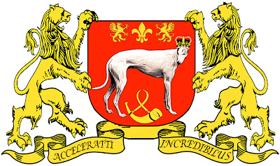 Blue greyhounds coat of arms