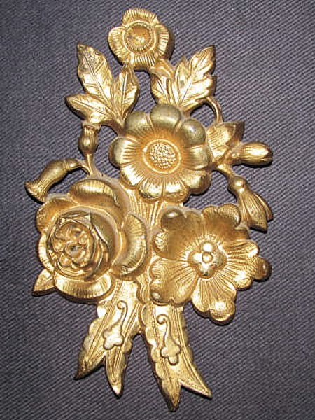19th c French Bronze Picture Hook Cover - 'Casse Clou'