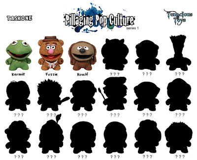 """Pillaging Pop Culture"" Custom The Muppets Blind Box Series Checklist by Task One"