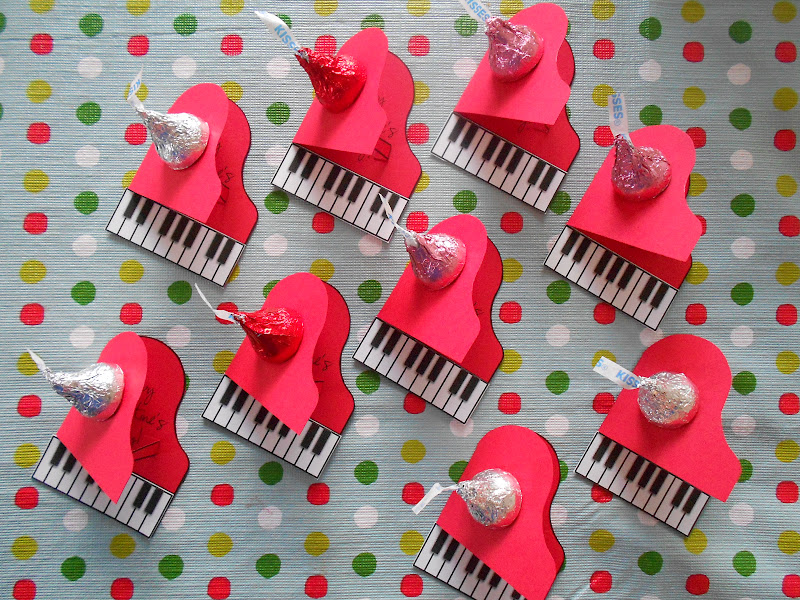 piano valentines for students and staff - Valentines For Students