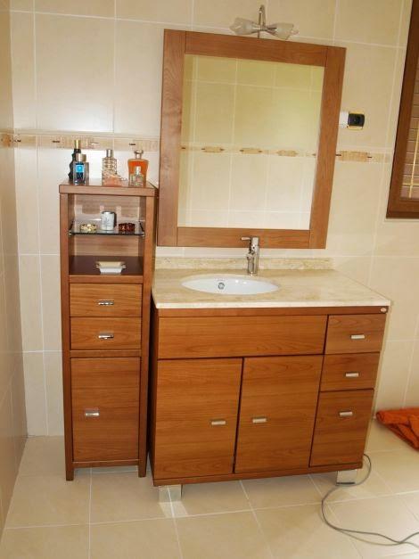 Dise os de muebles para ba os de madera decoractual for Modelos de muebles de madera