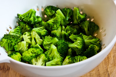 ... Kitchen®: Barely-Blanched Broccoli Salad with Feta and Fried Almonds