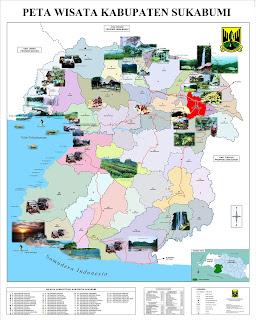 Peta Wisata Kabupaten Sukabumi