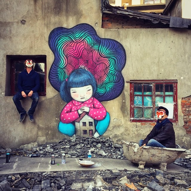 Seth Globepainter rounded up a busy 2014 with another trip to China where he created a whole series of new smaller works.
