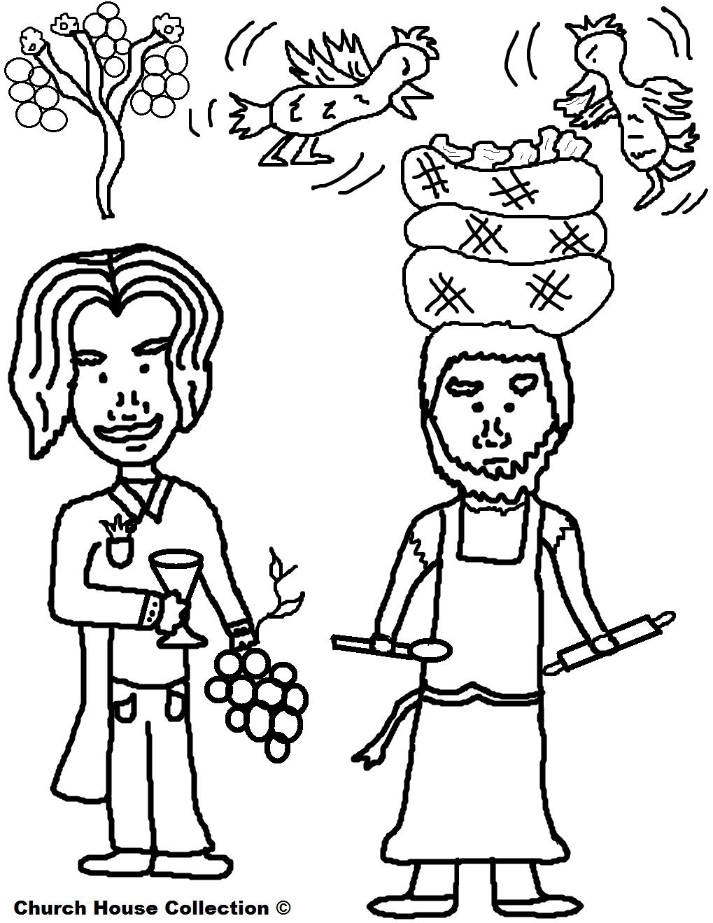 Coloring Pages For Joseph S Dreams : Church house collection butler and baker dreams