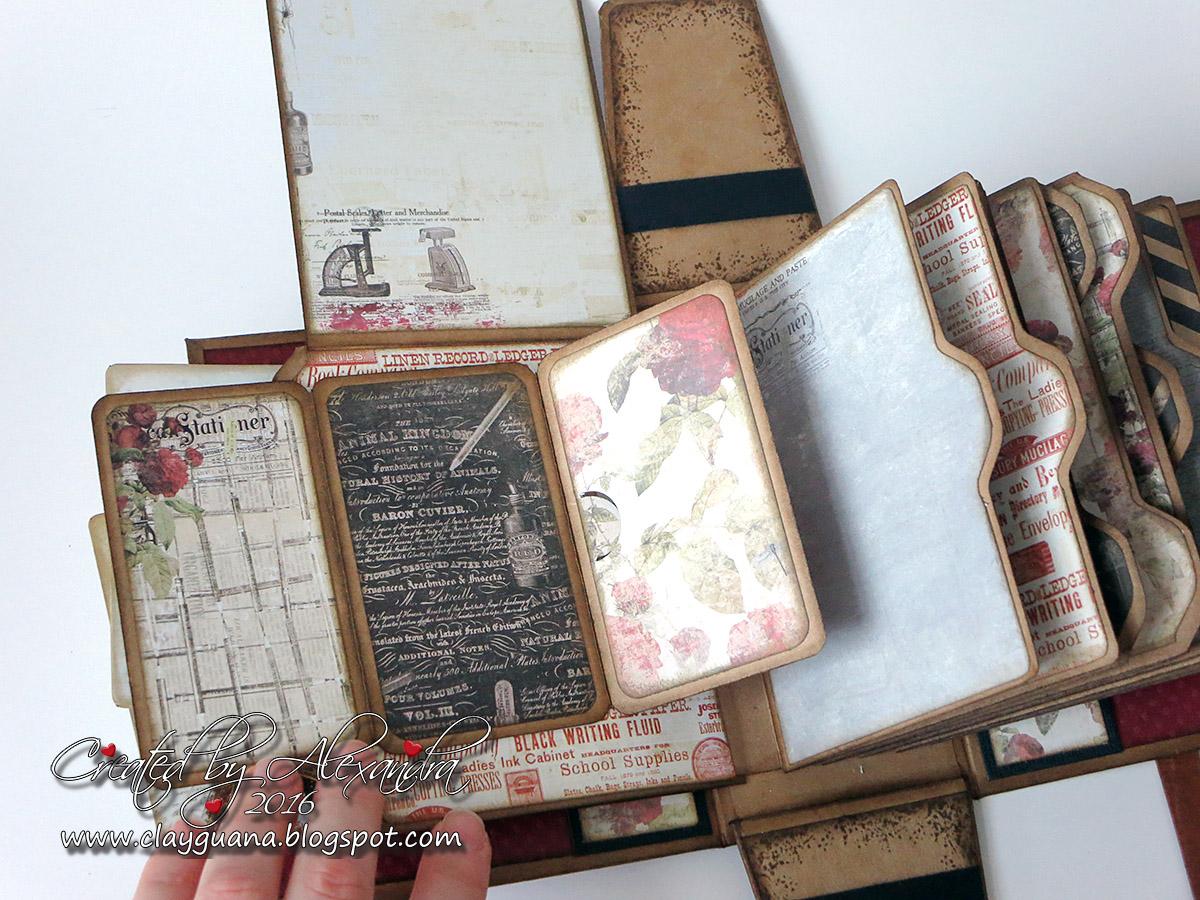clayguana purse mini album tutorial. Black Bedroom Furniture Sets. Home Design Ideas