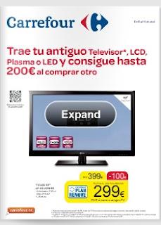 Plan renove de televisores 2013 carrefour for Tv plasma carrefour