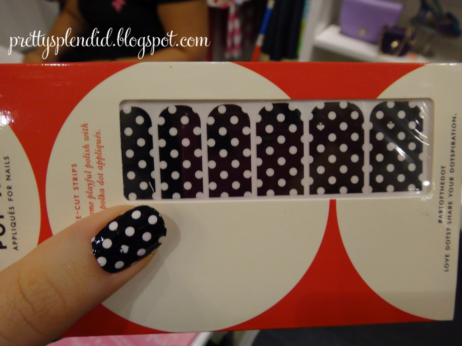 pretty splendid: Kate Spade Nail Decals with Tutorial