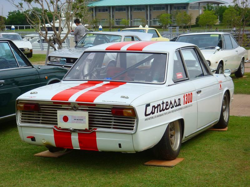 Hino Contessa PD, czerwone pasy, red stripes, klasyk, stary samochód, sportowy, Japonia, ciekawostka, クラシックカー