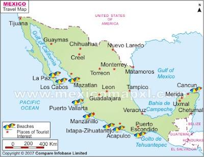 Mapa de México Politcal Regional