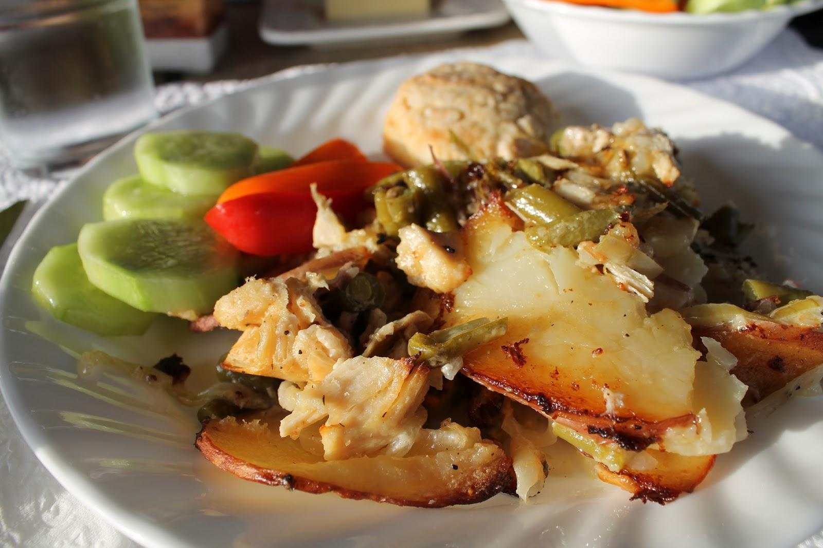 ... Girls Can Cook: Fresh Potato and Green Bean Chicken Casserole