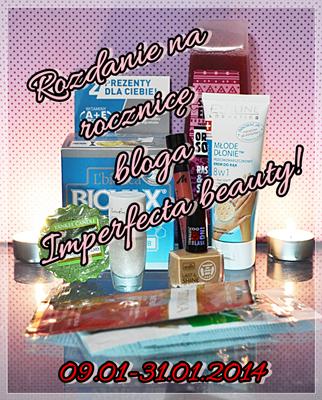 http://imperfecta-beauty.blogspot.com/2014/01/rok-bloga-wygraj-kilka-kosmetykow.html