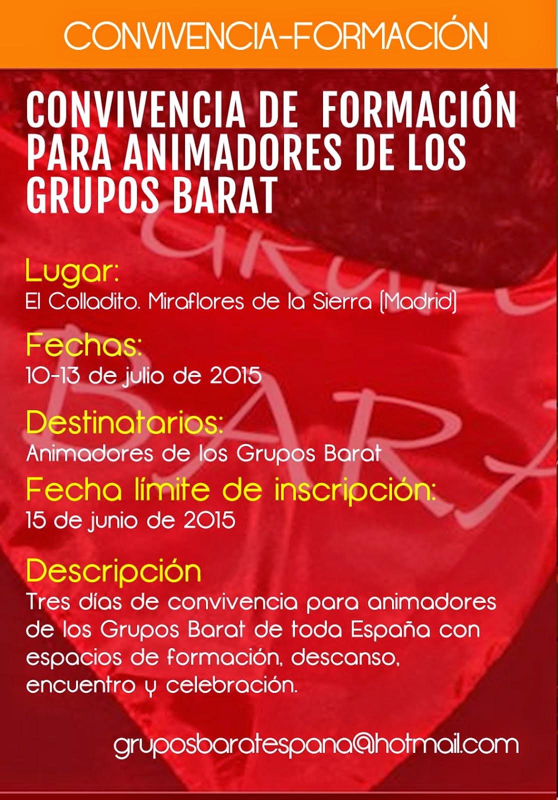 CONVIVENCIA-FORMACIÓN PARA ANIMADORES DE GRUPOS BARAT