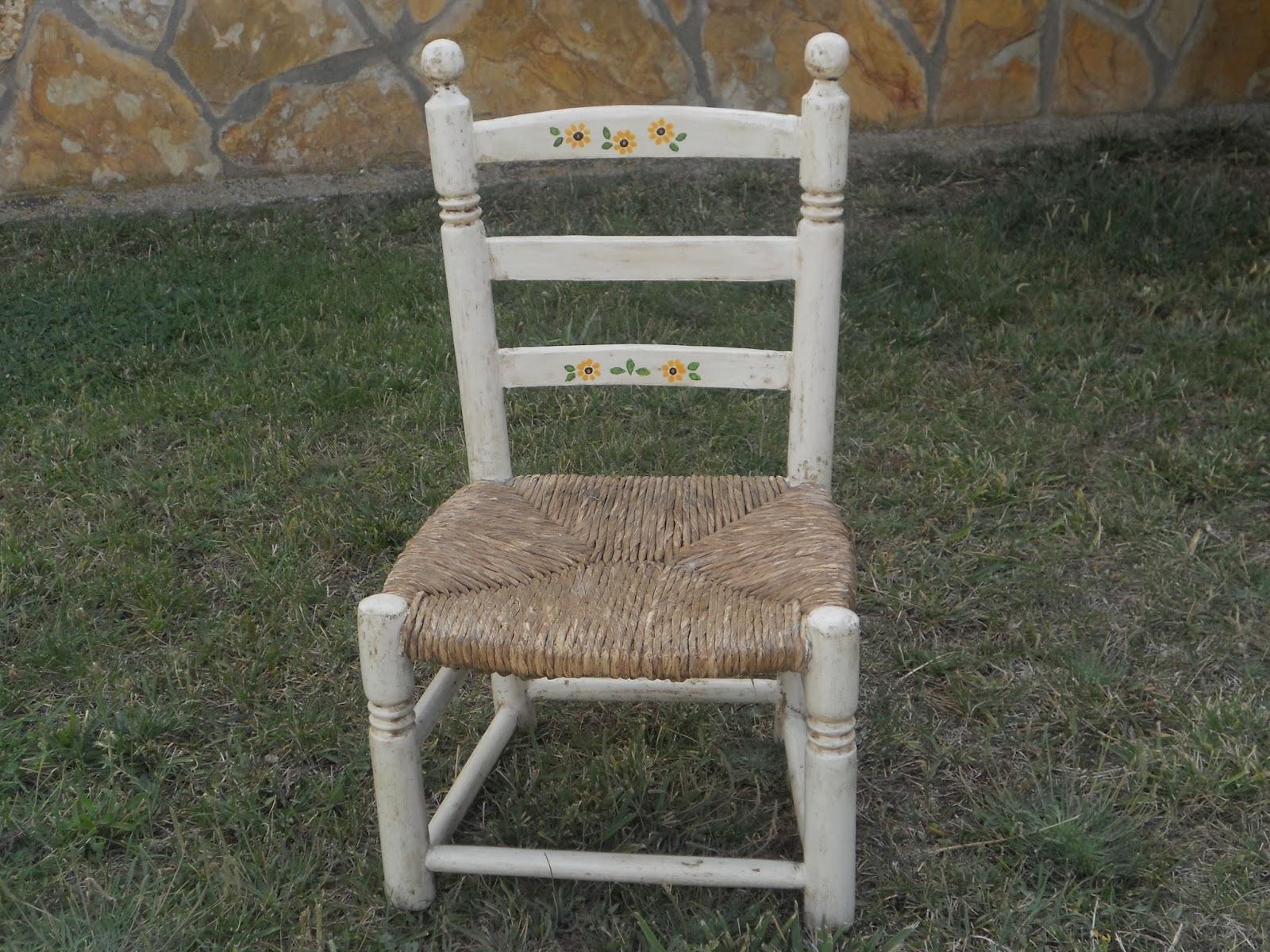 silla de la abuela pintada a mano