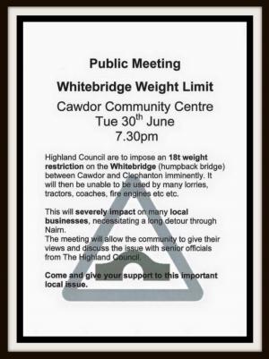 White Bridge proposed 18 tonne limit emergency meeting
