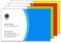 Change bussiness card color schemes