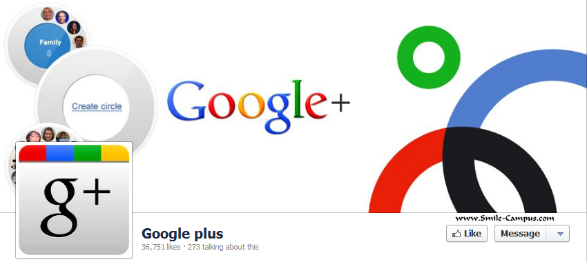 Google Plus Facebook Timeline Page