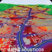 Mapas Acústicos - Mapas de Ruido - Ingeniería Acústica - Simulaciones Acústicas