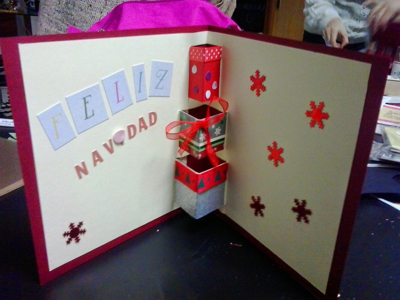 modelo tarjeta de navidad con relieve dentro