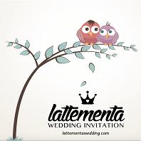 Latte Menta Wedding Invitation