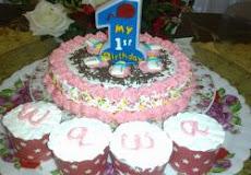 Besday Wawa (kek coklat+cup cake+deco) @ RM50
