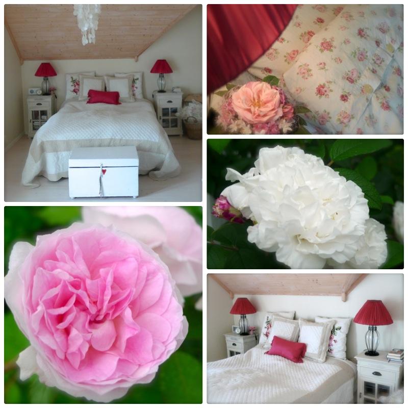 Soverom med rosa kontraster