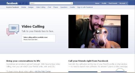 video calling facebook under development right now