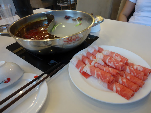 beef and hot pot at Xiao Wei Yang