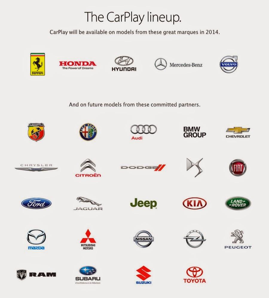 「Apple CarPlay」に対応する自動車ブランドが新たに追加されました。