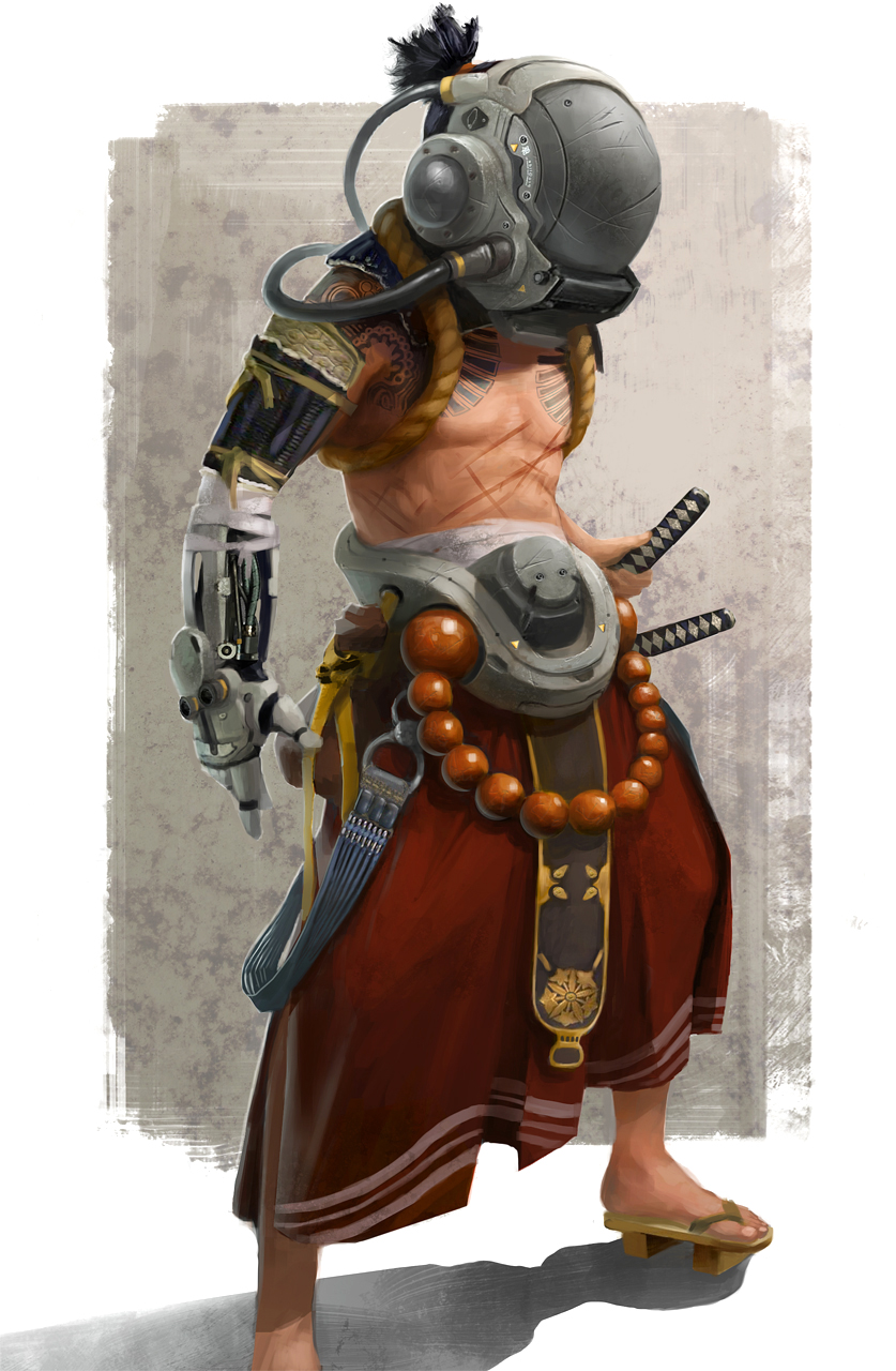 inkertone cyberpunk samurai