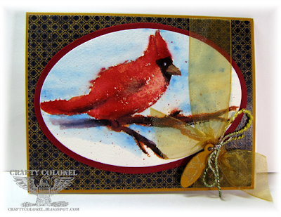 CraftyColonel Donna Nuce for Club Scrap Watercolor Christmas Bloghop, Christmas Card