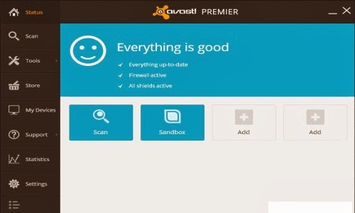 Avast Premier has all of the features possessed by Avast Internet