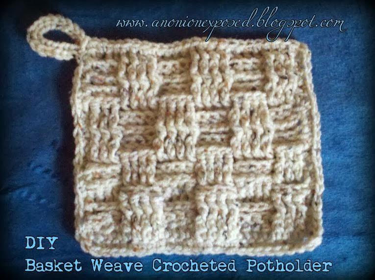 An Onion Exposed: DIY Basket Weave Crocheted Potholder