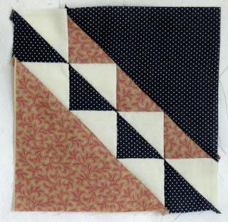 Blok 19 van de 1865 passion sampler quilt