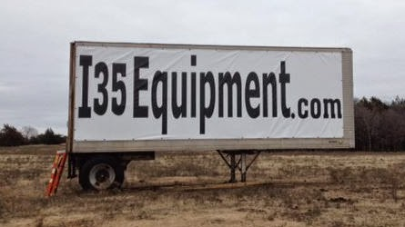 Vinyl Banner Installed on the Truck Trailer | Banners.com