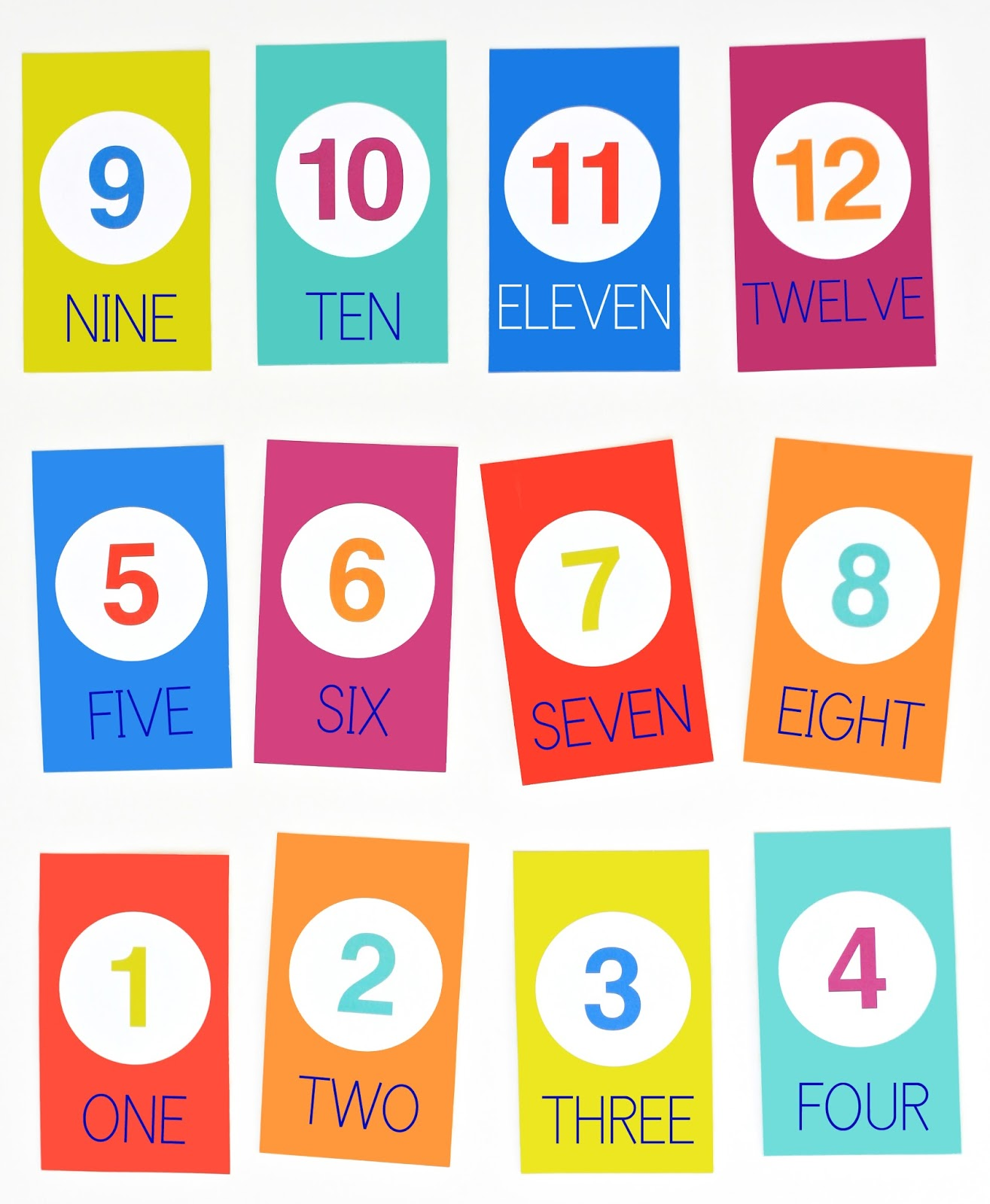 Numbers 1 Through 4 Clipart - Clipart Kid