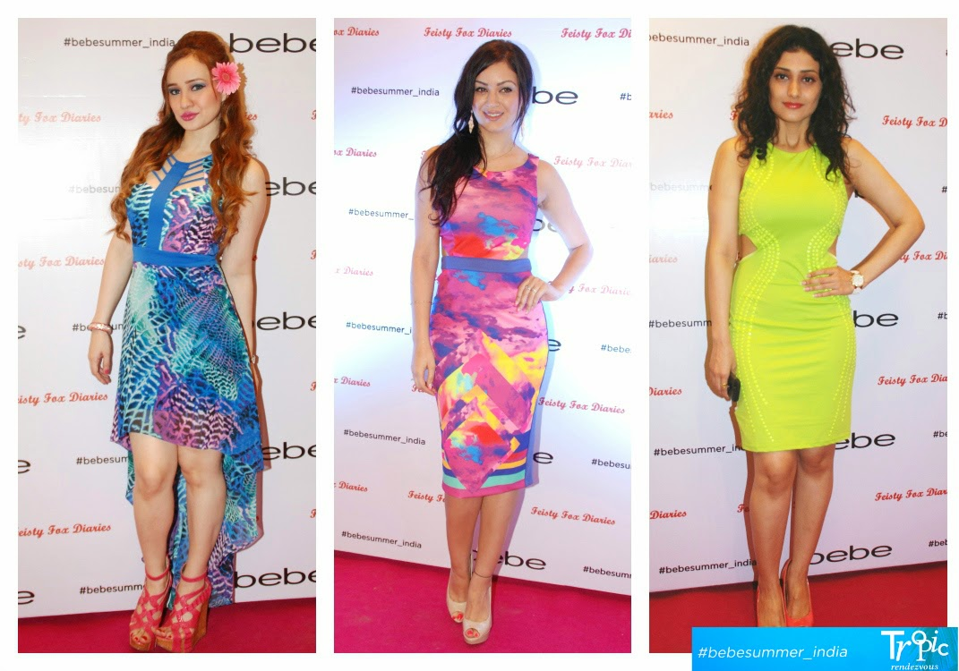 Stephanie timmins, Maryam Zakaria, Ragini Khanna in Bebe