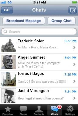 WhatsApp literari (Esmeralda Vallverdú)